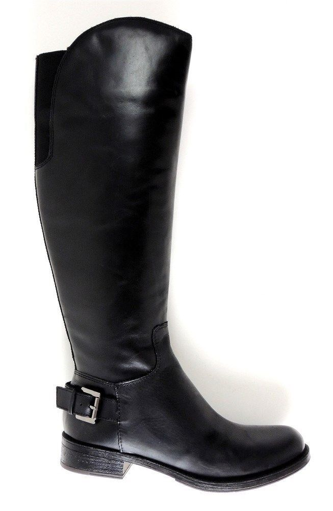 Guess Women's Lurie Riding Boots Black Leather Size 5.5 M