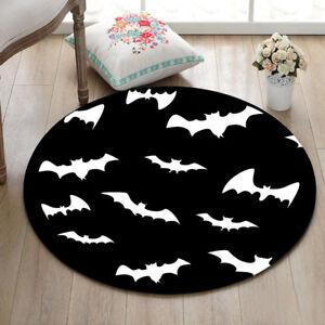 Image Is Loading Black White Bat Area Rug Bedroom