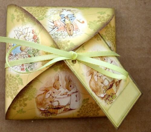 Beatrix Potter gift bag party favor table decoration set of 6