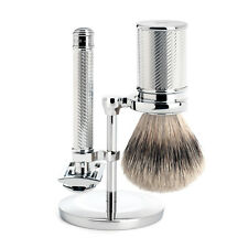 Muhle R89 Closed Comb Double Edge Safety Razor, Silvertip Shaving Brush & Stand