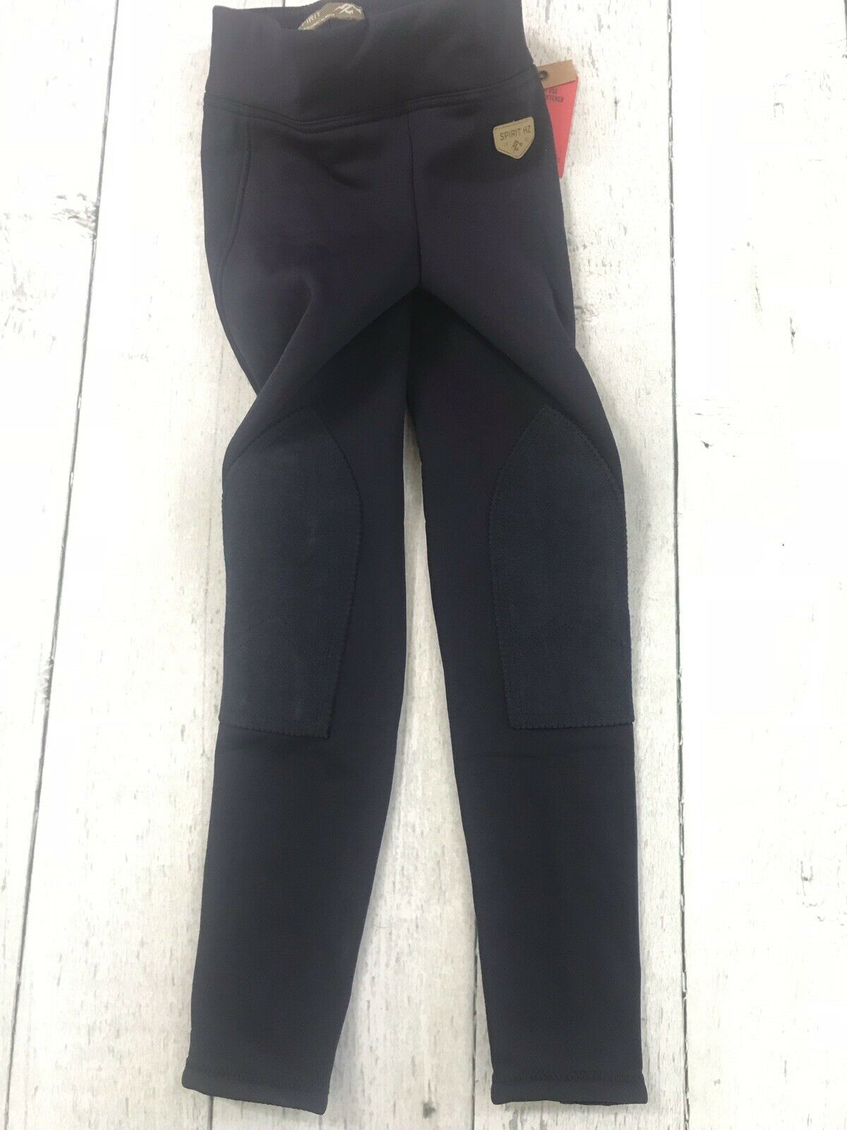 NWT Horze  Spirit Knee Patch Active Tights Kids Pants Riding Large - Navy  more affordable