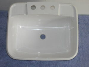 RV-Marine-Camper-Van-Tiny-House-White-Bathroom-Head-Sink-4-034-Faucet-Mount-Basin