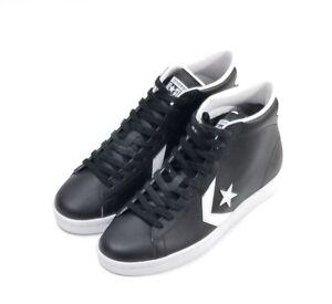 8cea266ae6ee38 Converse PL Pro Leather 76 Mid Top Black White Men s Size 9 157717c ...