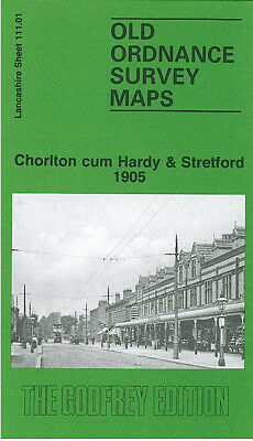 Old Ordnance Survey Maps Chorlton cum Hardy /& Stretford Lancs 1915 S 111.01 new