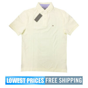 b9eaf4477 Tommy Hilfiger NWT Men's Classic Fit Solid Light Yellow Basic SP ...