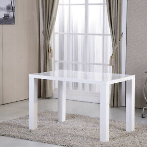 White-Gloss-Dining-Table-Kitchen-Dining-Room-Furniture-Rectangular-Table-UK