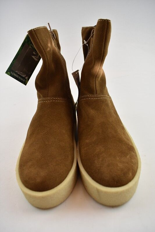 Lumberjack señora botas de gamuza coñac en la talla 37