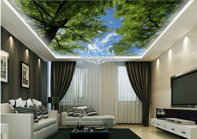3D Clouds Sky Tree 82 Wall Paper Wall Print Decal Wall Deco AJ WALLPAPER Summer