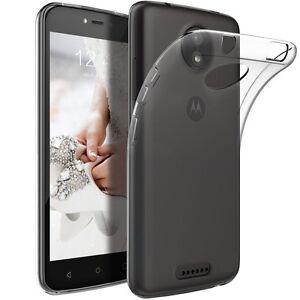 Soft-Gel-Clear-Transparent-Case-Cover-For-Motorola-Moto-C-E4