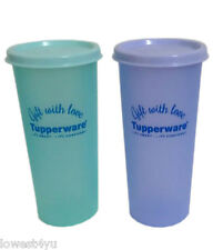 Tupperware Rainbow Tumblers (Set Of 2) - 340ml glasses used by trendy lunch
