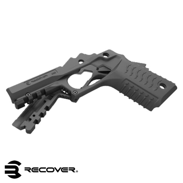 NEW - Recover Tactical 1911 Polymer Grip and Rail Cover Mount Adapter - RE-CC3