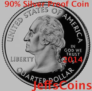 2014 90/% Silver Proof Arches National Park Quarter