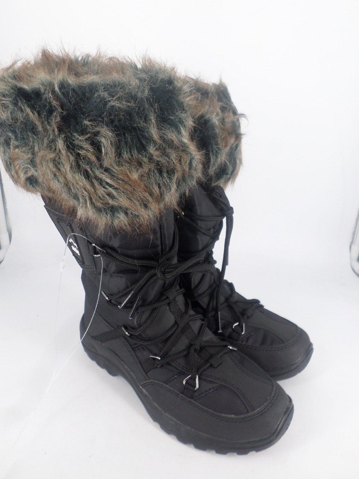 SNOE Señoras Ribete De Piel Negro Botas De Nieve LN084 mm 03