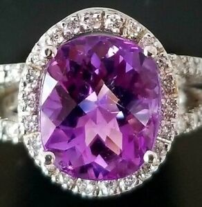 5Ct-Oval-Cut-Amethyst-Simulnt-Diamond-Halo-Solitaire-Ring-White-Gold-Fnsh-Silver