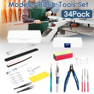 34-in-1-Modeler-Basic-Tools-Craft-Hobby-Model-Building-Kit-Grinding-FOR-GUNDAM