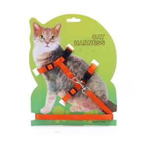 (ch001) Cat Chaton Réglable Harness & Lead Set, Orange Vif-afficher Le Titre D'origine