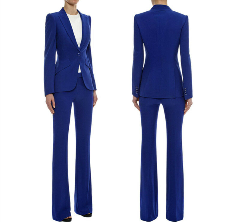 Womens High Waist Slim Fit OL Ladies Long Pants Stretchy Mid Rise Trousers Pants