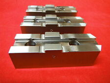 """CNC MILL LATHE PART 10"""" CHUCK SOFT STEEL JAWS TONGUE & GROOVE M2026257 NEW!"""