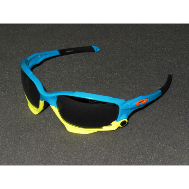 0e7fff6eed Oakley Racing Jacket Fathom Sunglasses Pacific Blue Frame Black Iridium