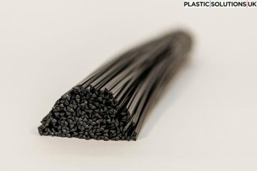 BARRE di saldatura plastica PP 100pcs Nero Auto Paraurti Carrozzeria Kit riparazione TRIANGOLO E FLAT