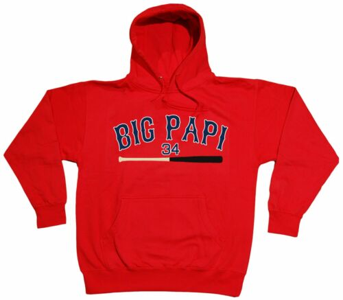 "RED David Ortiz Boston Red Sox /""Big Papi/"" jersey Hooded SWEATSHIRT HOODIE"