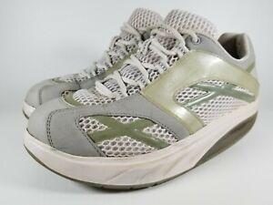 Womens-MBT-M-Walker-Silver-Walking-Shoes-SZ-8-38-5-Used-Sneakers-Toning-Trainer