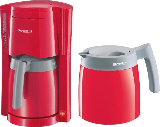 SEVERIN KA 9746 Filter Kaffeemaschine Tropfstopp auto Abschaltung 800W Rot Grau