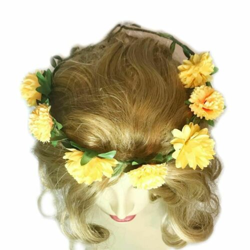Floral Flower Headband Wedding Birthday Party Crown Dress Up hair band costume