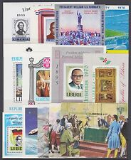 Liberia Sc 386a/943 MNH. 1959-1982 issues, 12 Souvenir Sheets, VF