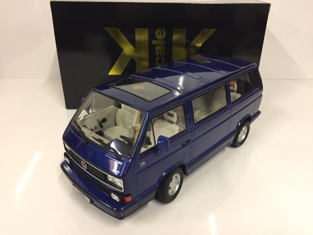 VW Autobús T3 2018 limitado última edición 2018 Azul  escala escala KK