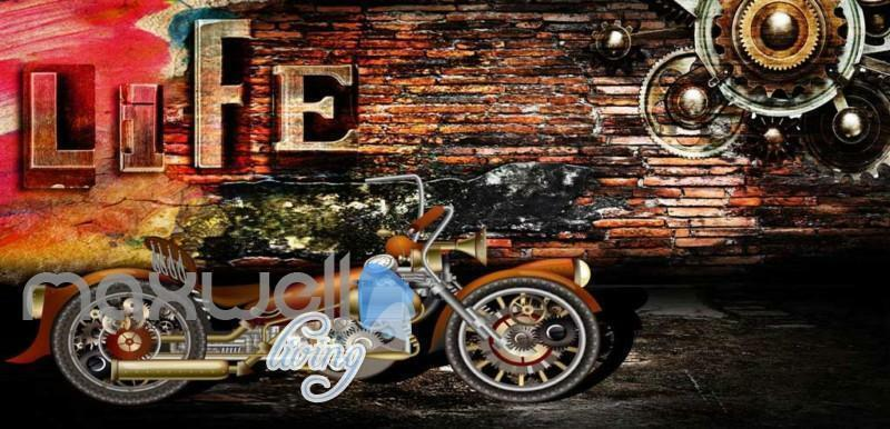 3D 3D 3D Graffiti Life Motorbike Gear Street Wall Murals Wallpaper Decals Prints Decor 2f8f64