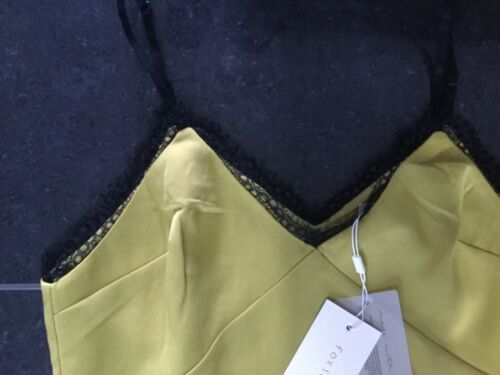 Abito 10 senza Ladies giallo maniche 8 Uk Fa455dr Foxiedox Small senape Nwt a8ZpXx
