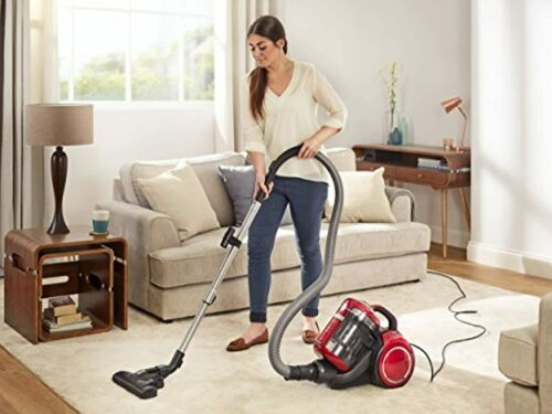 Beko Bagless Pets Cylinder Vacuum Cleaner, Red