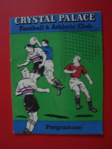 CRYSTAL PALACE V MARGATE 5960 FA CUP 2ND ROUND REPLAY 9 DECEMBER 1959