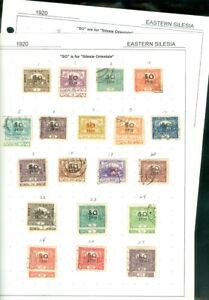 EDW1949SELL : EASTERN SILESIA Mint & Used collection on pages.