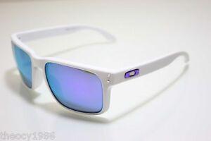 white oakley holbrook xsmr  oakley holbrook matte white/violet iridium sunglasses