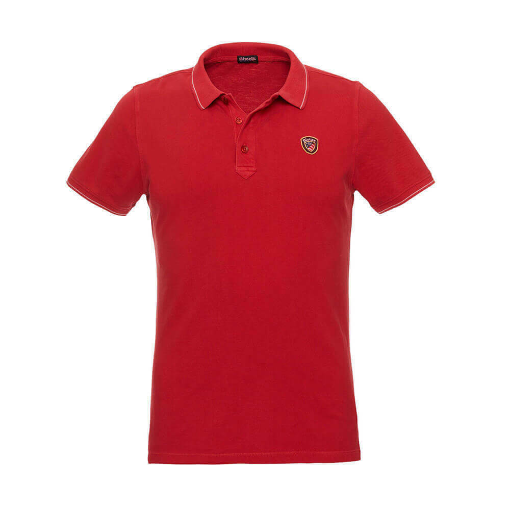 blueER POLO PIQUÉ WITH RIB STRIPED 18SblueT02036 4865 552 RED BLOOD