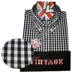 Warrior-UK-England-Button-Down-Shirt-KENNEDY-Slim-Fit-Skinhead-Mod-Retro
