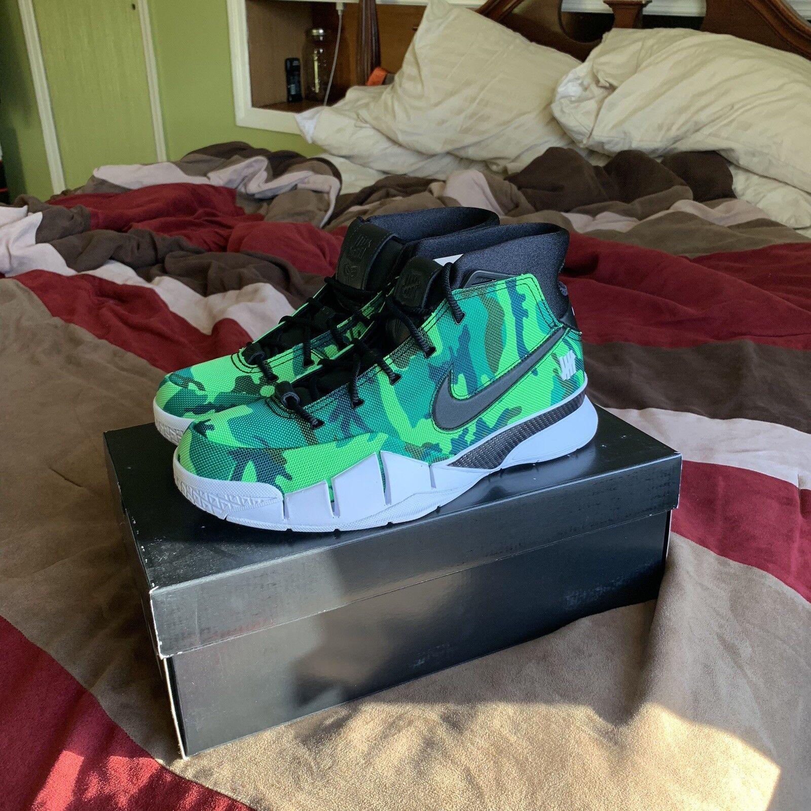 Nike Kobe 1 Predro Undefeated UNDFTD Green Camo Silver Lake Size 9