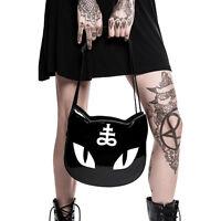 Killstar Lucipurr Handbag Black/White Goth Nugoth Cat Occult Symbol