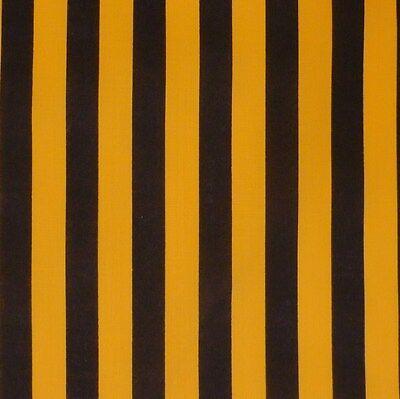 Black & Yellow Bumble Bee Stripe Cotton Fabric NEW!
