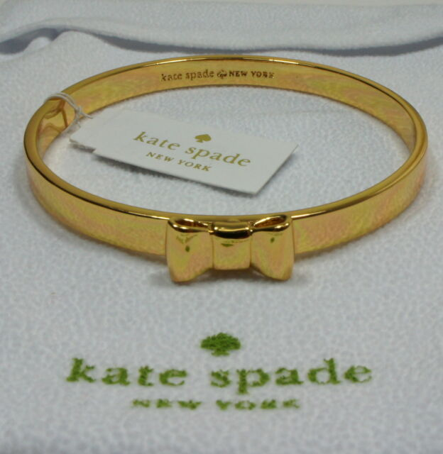 NEW AUTHENTIC KATE SPADE TAKE A BOW Gold Bangle Bracelet NWT