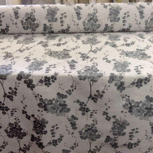 Puede Blosom Gris Plata Seda De Imitación Cortina//artesanía//Tela de tapicería