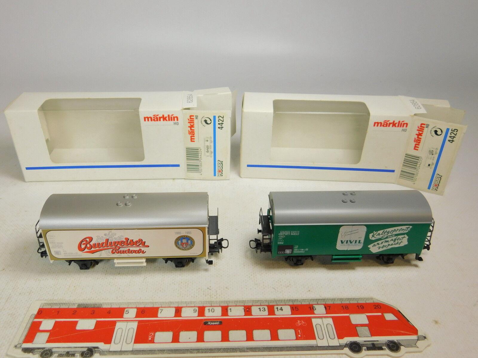 AU228-0,5x Märklin H0 AC Freight car  4422 Budweiser CD+4425  Vivil  DB NIP