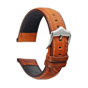 Vintage Armbanduhr Band Schnellverschluss Kuh Leder Uhrenarmband 20mm 22mm