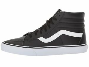7dde36c0fcaa Men s Vans Sk8-Hi Reissue Hi Top Fashion Sneaker Black Leather Shoes ...
