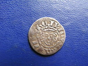 Henry III Silver Voided Long Cross Penny, Class 5a Canterbury 1216-47