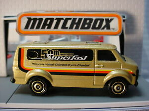 2019-SERVICE-SQUAD-CHEVY-VAN-Gold-50th-Anniversary-Superfast-Matchbox-LOOSE