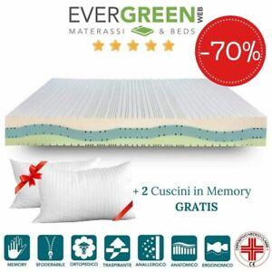 Evergreenweb Materassi.Evergreenweb Materasso Matrimoniale 165x200 Silver Memory