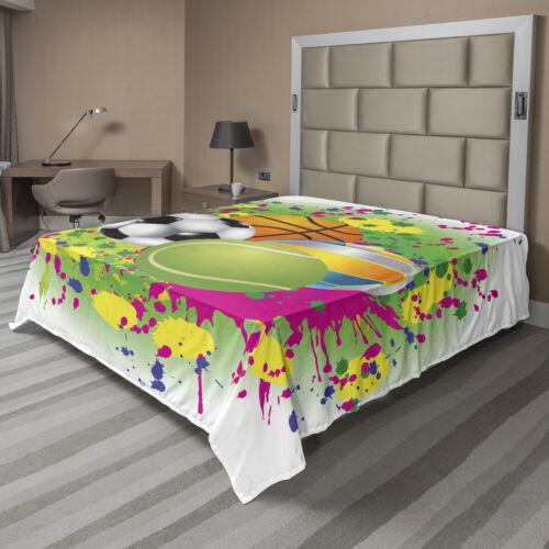 Ambesonne Cartoon Design Flat Sheet Top Sheet Decorative Bedding 6 Sizes